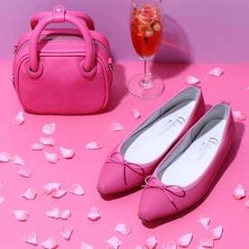 WEB先行予約販売【100g 超軽量】スクエアトゥバレエシューズ (ピンク人工スムース)