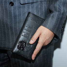 フィセルローズ かぶせ長財布 スリムタイプ (ブラック)