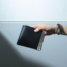 ATメタルプレート 二つ折り財布 (ブラック)