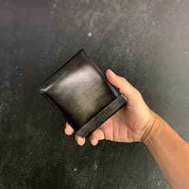 ATメタルプレートアドバン 二つ折り財布 (シルバー)