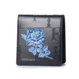 フィセルローズ 二つ折り財布 (ブルー)