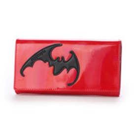 ATバット かぶせ長財布 (レッド)