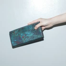 ATサイバー かぶせ長財布 (カーキ)