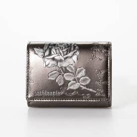 フィセルローズ コンパクト三つ折り財布 (シルバー)