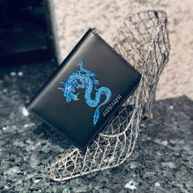 ATカラードラゴン 二つ折りパスケース (ブルー)