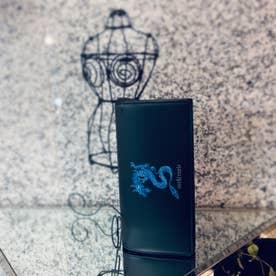 ATカラードラゴン かぶせ長財布 (ブルー)