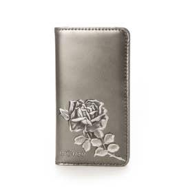 フィセルローズ iphone7/8/SE2 ケース 手帳タイプ (シルバー)