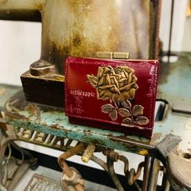 フィセルローズ 三つ折り口金財布 (ボルドー)