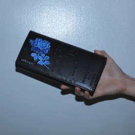 フィセルローズ かぶせがま口長財布 (ブルー)