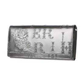 フィセルローズ かぶせ長財布 (シルバー)