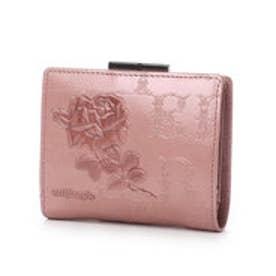 フィセルローズ 二つ折りがま口財布 (ピンク)