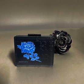 フィセルローズ 二つ折りがま口財布 (ブルー)