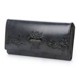 ローズジャルダン かぶせ長財布 (ブルー)