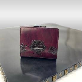 ローズジャルダン 二つ折りがま口財布 (ボルドー)
