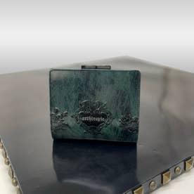 ローズジャルダン 二つ折りがま口財布 (ブルー)