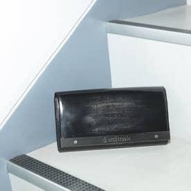 ATメタルプレートアドバン かぶせがま口長財布 (シルバー)