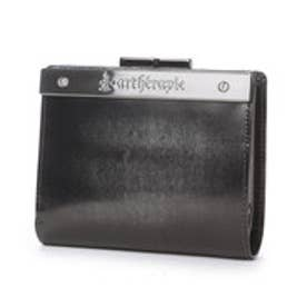 ATメタルプレートアドバン 二つ折りがま口財布 (シルバー)