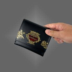 ローズジャルダン 二つ折り財布 アウトポケット(ブラック)