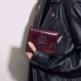 ローズジャルダン 二つ折り財布 アウトポケット(ボルドー)