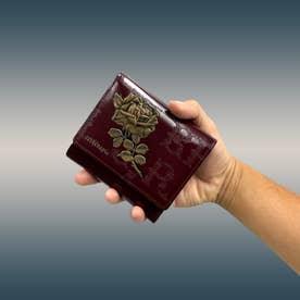 フィセルローズ 二つ折り財布 アウトポケット(ボルドー)