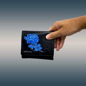 フィセルローズ 二つ折り財布 アウトポケット(ブルー)