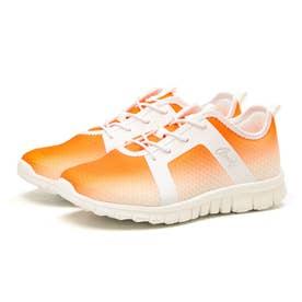 スニーカー AL0901 軽量 レディース 通勤 通学 疲れにくい 歩きやすい スリッポン 0901 (オレンジ)