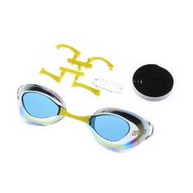 水泳 ゴーグル/小物 くもり止めスイミンググラス ノンクッションタイプ(ミラー加工) AGL-130M 【返品不可商品】 (ゴールド)