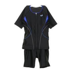 レディース 水泳 フィットネス水着 オオキメカラースナップツキセパレーツ LAR-0242W 【返品不可商品】