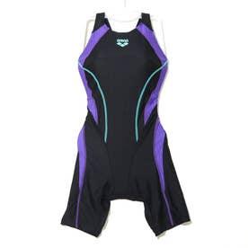 レディース 水泳 競泳水着 ハーフスパッツ ARN-0053W 【返品不可商品】 (ブラック)