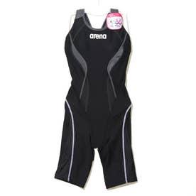 レディース 水泳 フィットネス水着 サークルバックスパッツ(ヒッカケフィ LAR-0200W 【返品不可商品】 (ブラック)