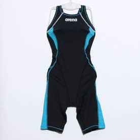 レディース 水泳 競泳水着 タフハーフスパッツ(キヤストラップ) FSA-0639W 【返品不可商品】 (ブラック)