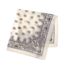 paisley pattern scarf (OFF WHITE)