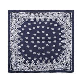 paisley pattern scarf (NAVY)