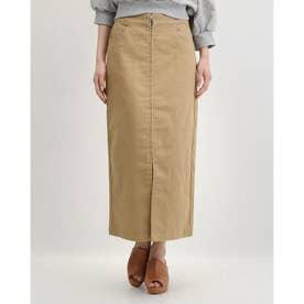 ツイルフープジップスカート (BEIGE)