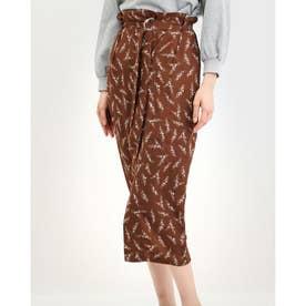 ラップIラインスカート (BROWN)