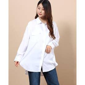 サテンシャツ (OFF WHITE)