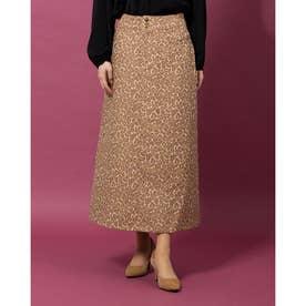 a-レオパードAラインスカート (CAMEL)