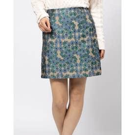花柄ジャガードタイトスカート (BEIGE)