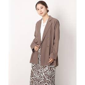変わり織りテーラードジャケット (MOCHA)