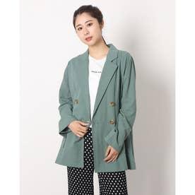 変わり織りテーラードジャケット (GREEN)