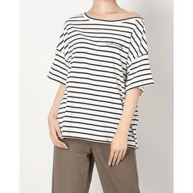 ワンショル刺繍入りTシャツ (WHITE/BLACK)