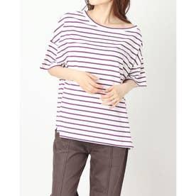 ワンショル刺繍入りTシャツ (WHITE/PURPLE)