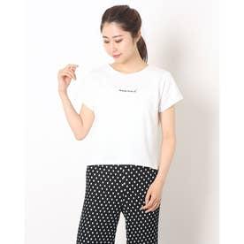 ロゴ刺繍チビTee (OFF WHITE)