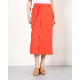 a-ツイルベルト付スカート (RED)