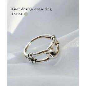 Knot design open ring 26041 (シルバー)