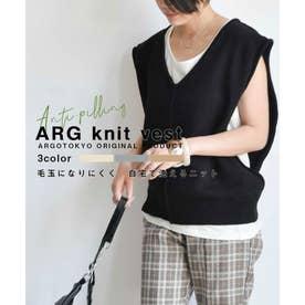 ARG knit vest 25013 (ブラック)