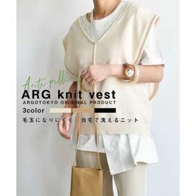 ARG knit vest 25013 (オフホワイト)