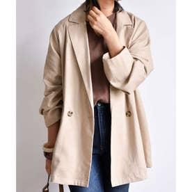 Linen tailored jacket 21004 (ベージュ)