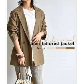 Linen tailored jacket 21004 (モカ)