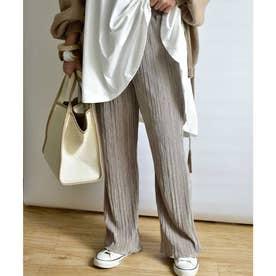 Satin mini pleats pants 22002 (グレー)
